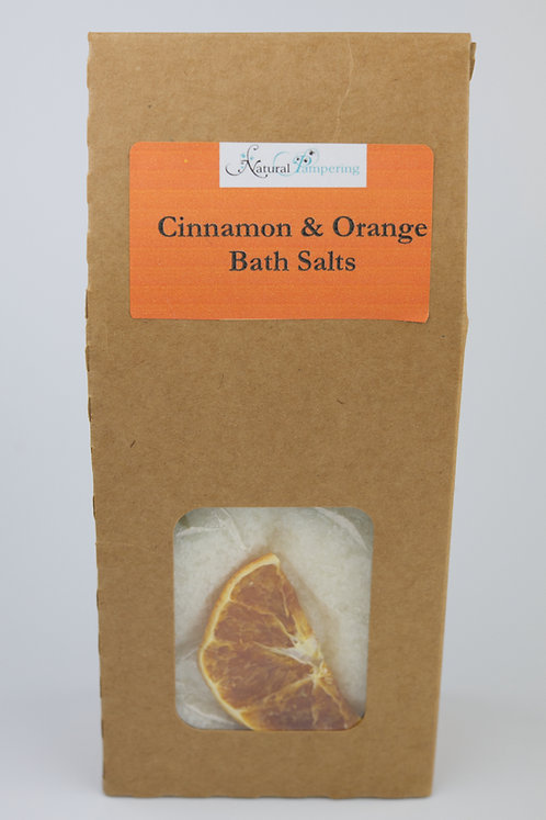 Cinnamon & Orange Bath Salts- in Kraft Brown Box