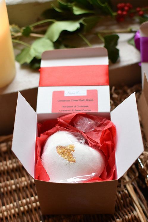 Gift Boxed- Cinnamon & Orange Heart Bath Bomb