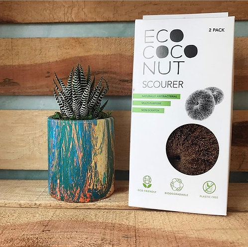 Twin pack of Scourers Ecococonut