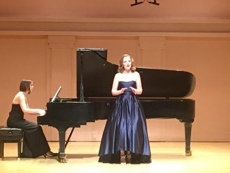 with Laura LeVoir, 2017 Master's Recital, Sheperd School of Music, Rice University