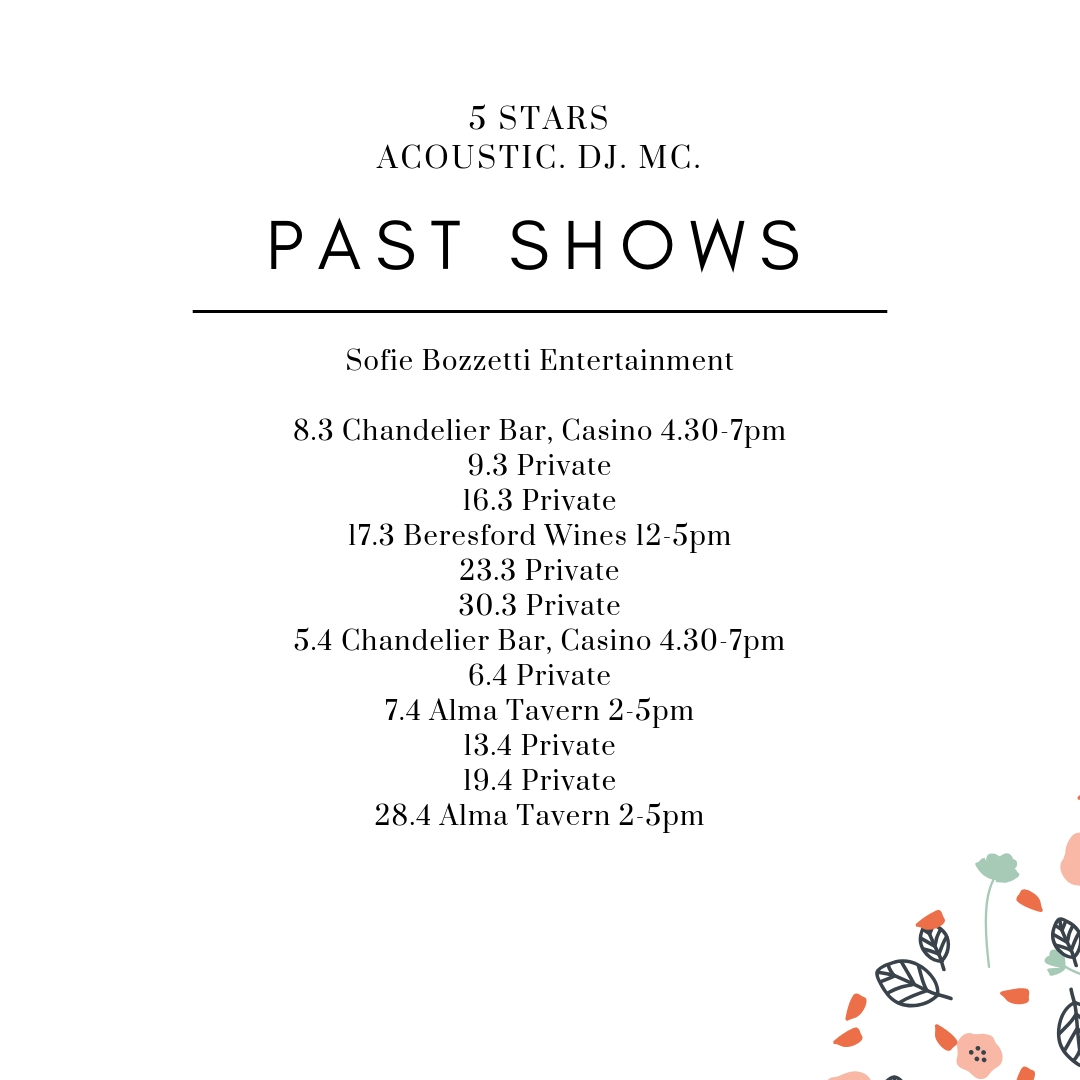 Past shows 2