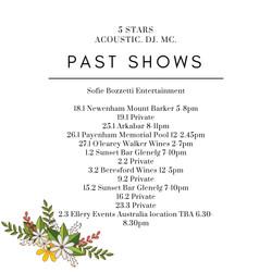 Past shows 1