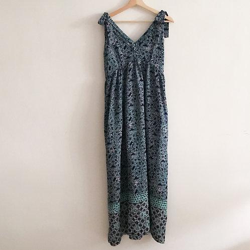Sleeveless Maxi Dress with Shoulder ribbon - Size L