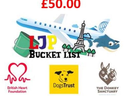 Donate to my charities!