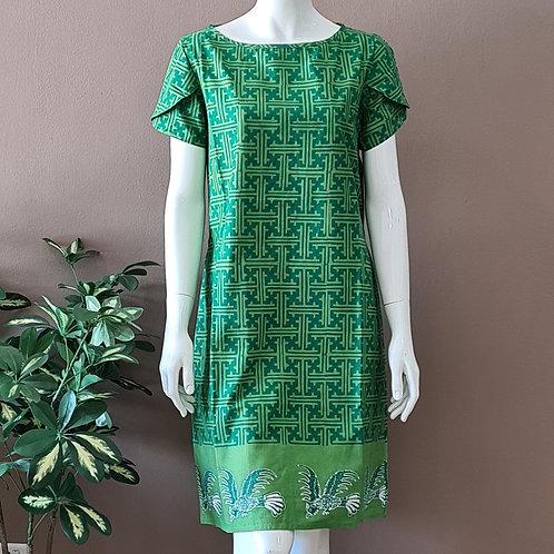 Boat Neck Batik Dress - Size M