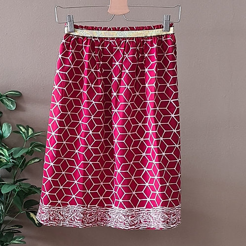 Skirt with Elastic Waistband - Free Size