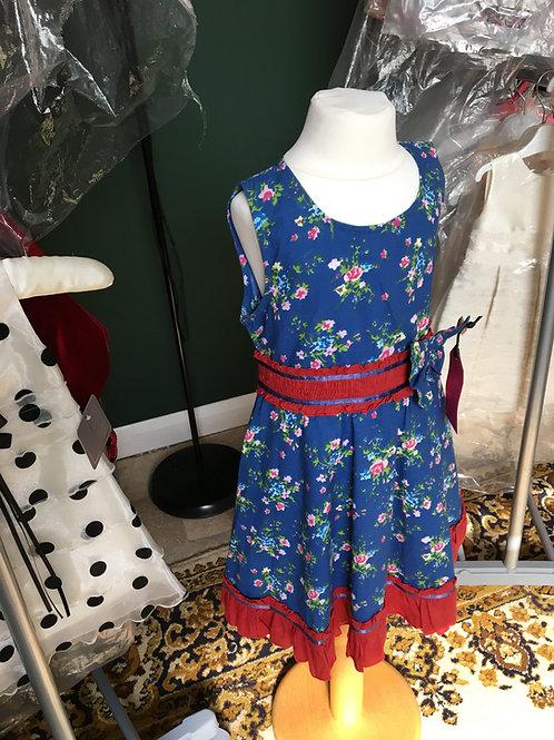 Powell Craft Navy/Burgundy Dress