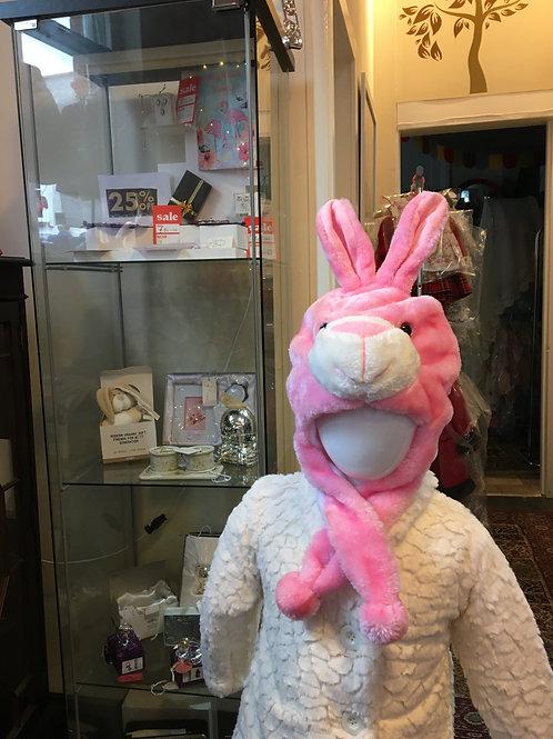 Animal Hat Pink Bunny