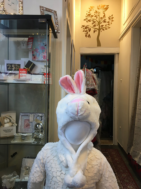 Animal Hat White Bunny