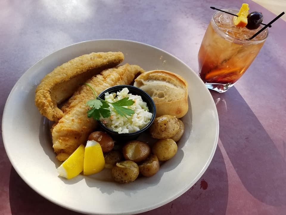 Fried Walleye Plate