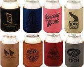 """Qty 5 Leatherette Beverage Holder - 3-3/4""""standard can or bottle holder"""