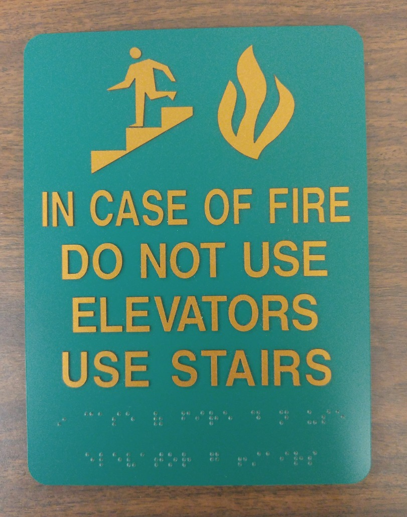 In case of fire ADA