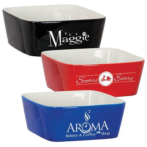 "7"" x 7"" Ceramic Bowl / Dish - Laser engraved - Personalized"