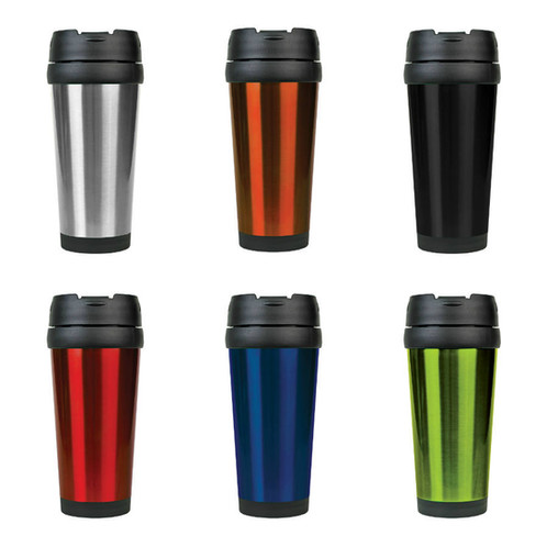 16 oz stainless steel travel mug without handle laser engraved