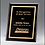 Thumbnail: Black Glass Plaque with Gold Engraving & Border - 3 sizes - Laser engraved