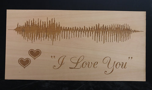 Custom sound wave laser engraving - Anniversary Gift - Your Song - Custom