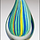 Thumbnail: Art Glass Droplet-Shaped Multi-Color Award - Blown Glass - Clear base