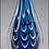 Thumbnail: Blue and black teardrop shaped art glass award - Laser engraved base or plate