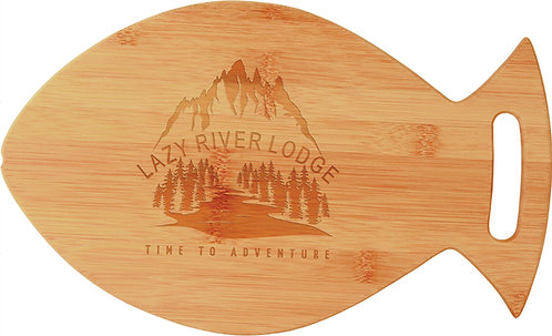 Bamboo Fish Shaped Cutting Board - Laser Engraved