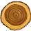 """Thumbnail: Old West log slice - Solid Elm - Laser Engraved - 7"""" or 9"""" diameter"""