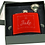 Thumbnail: Stainless Steel Flask Set in Black Presentation Box - Kit with funnel