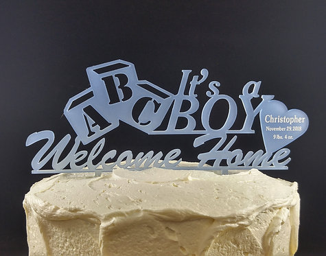 Cake topper - It's a Boy - It's a Girl - Welcome Home Design - Personalized