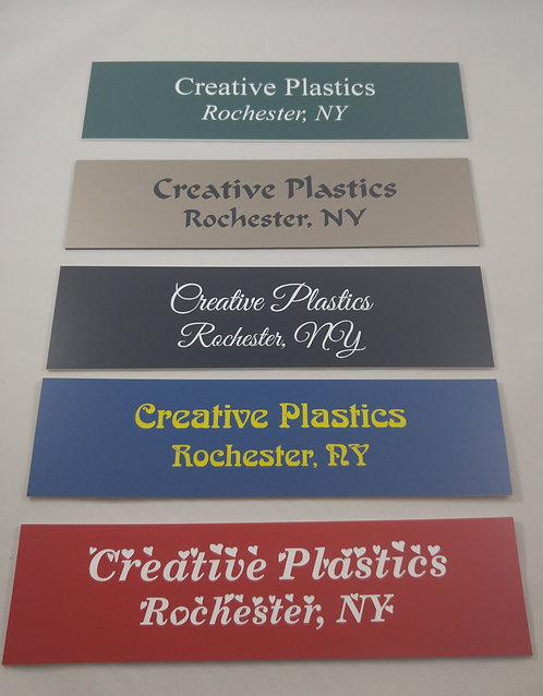 """2"""" x 8"""" laser engraved name plate - 58 color options - Cubicle - Desk plate"""