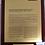 Thumbnail: Custom rosewood piano finish plaque - Gold coated aluminum plate
