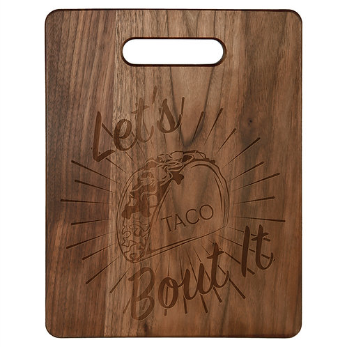 Walnut Cutting Board - Laser engraved - Personalized - 3 sizes available
