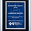 Thumbnail: High Gloss Piano Finish Plaque - Black Finish Board - Gray or Blue Marble Plate