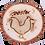 """Thumbnail: Old West Log Cottonwood Plaque - Log Slice - Laser engraved - 7"""" or 9"""""""