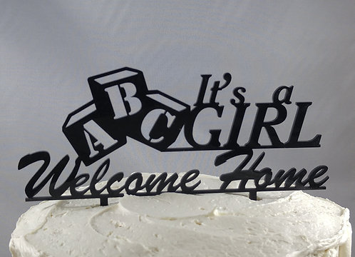 Cake topper - It's a Boy - It's a Girl - Welcome Home Design