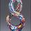 Thumbnail: Helix-Shaped Multi-Color Art Glass Award - Laser engraved base or plate