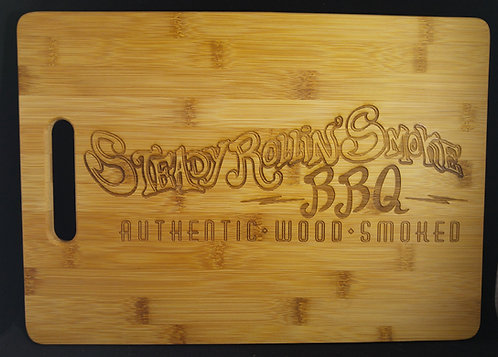 Natural Bamboo Cutting Board - Free Laser Engraving - Logo / Copy / Recipe