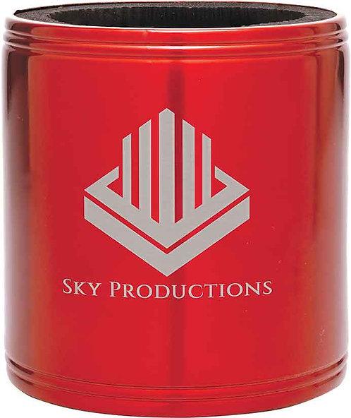 Stainless Steel Beverage Holder - Laser Engraved - Black / Red / Blue / Silver