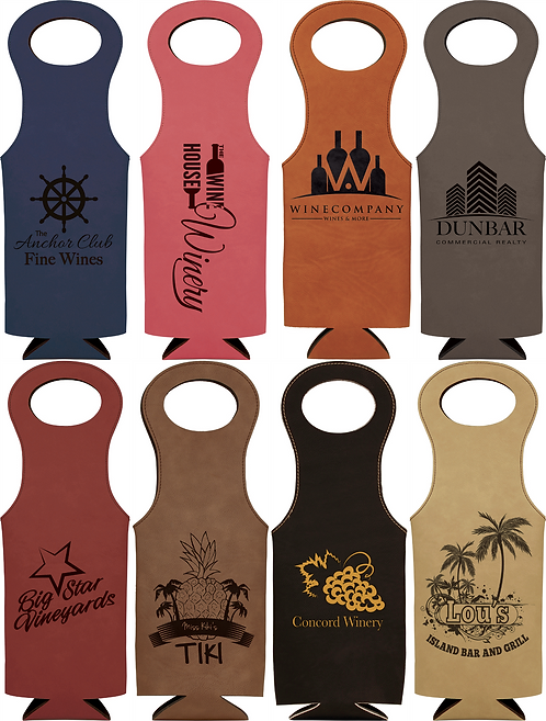 Personalized Leatherette Wine Bag