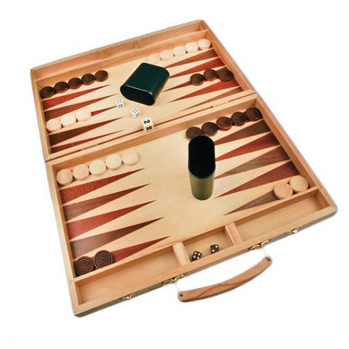"15"" x 9 1/2"" Backgammon Game Set - Corporate / Executive Gift"
