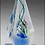 Thumbnail: Arrow shaped art glass award w/ frosted glass accent - Blown Glass - Clear base