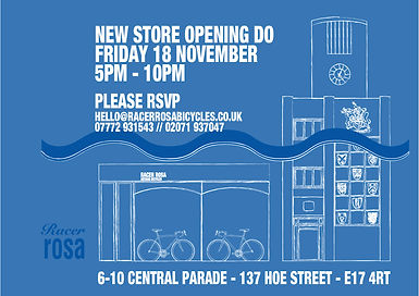 Racer Rosa Bicycles Opening
