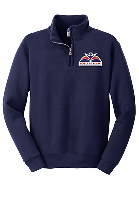 1/4 ZIP COLLAR  SWEATSHIRT-NAVY