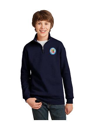 1/4-Zip Cadet Collar Sweatshirt-Navy