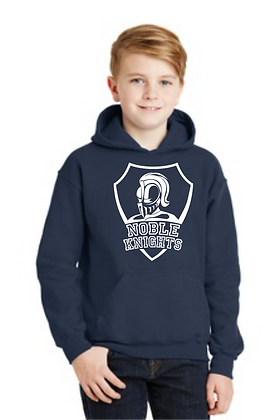 HOODED SWEATSHIRT-NAVY-B. White Spirit