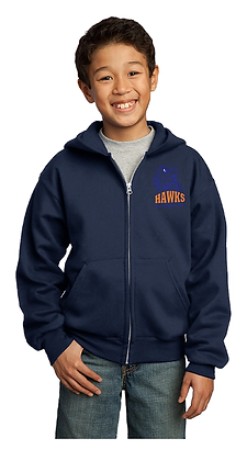 SMALL HAWK-FULL ZIP HOODY