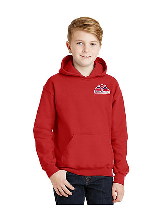 HOODED SWEATSHIRT-RED-SCL