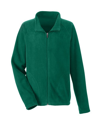 BLANK (NO LOGO) FLEECE JACKET-GREEN