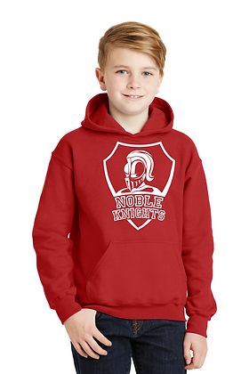 HOODED SWEATSHIRT-RED-B. White Spirit