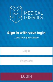 Medical Logistics Mobile App