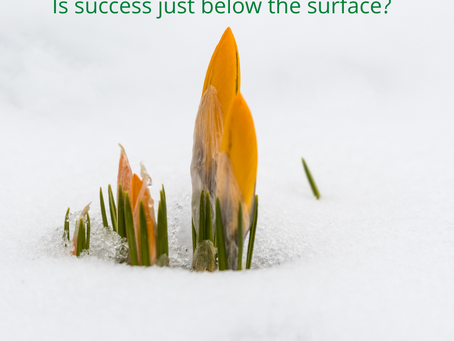 Is success just below the surface?