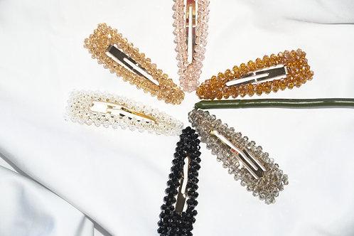 Crystal triangle Hair clip