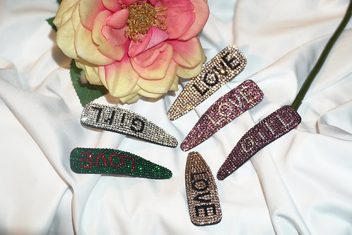Hair clips with letters